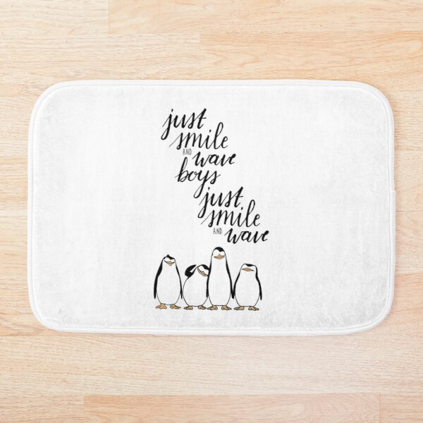 Just Smile and Wave Boys  Bath Mat