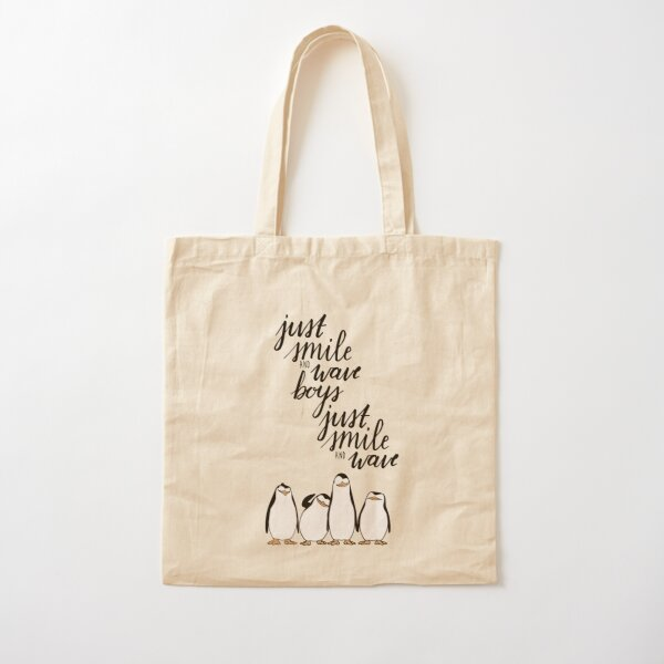 Just Smile and Wave Boys  Cotton Tote Bag