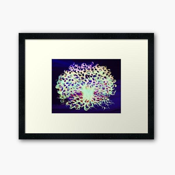 Galaxy Tree Framed Art Print