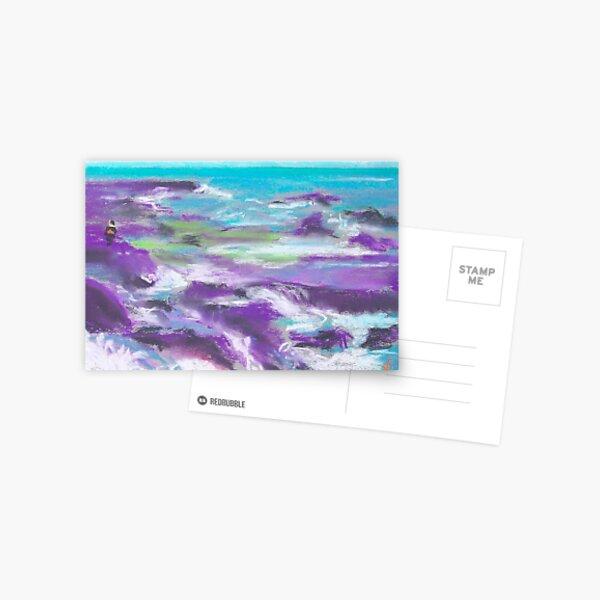 Keep Off the Rocks (pastel) Postcard