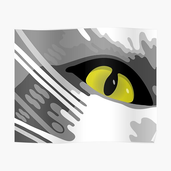 Cats Eye View Abstract Art Poster