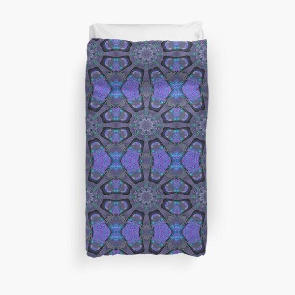 Blue and Purple Kalder Carpet Duvet Cover