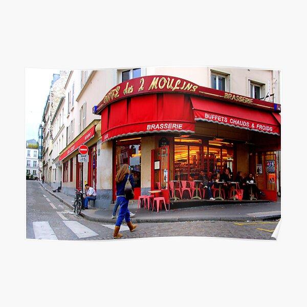 Paris - Amélie Poulain et le Café des Deux Moulins Poster