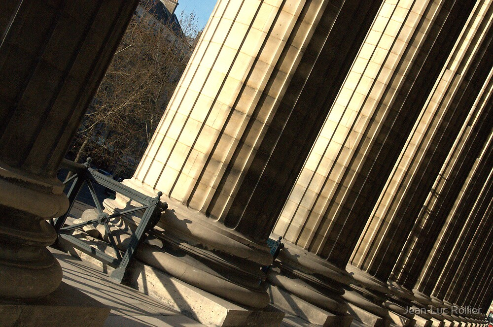 Paris -  Madeleine pillars by Jean-Luc Rollier
