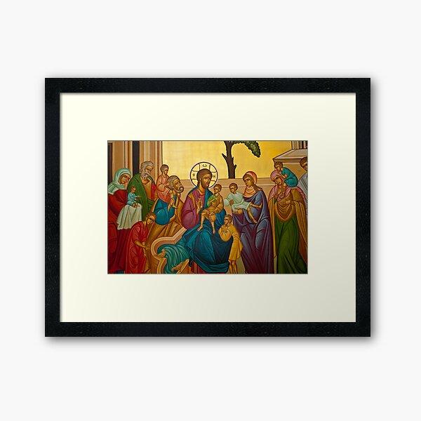Christ Blessing the Children Framed Art Print