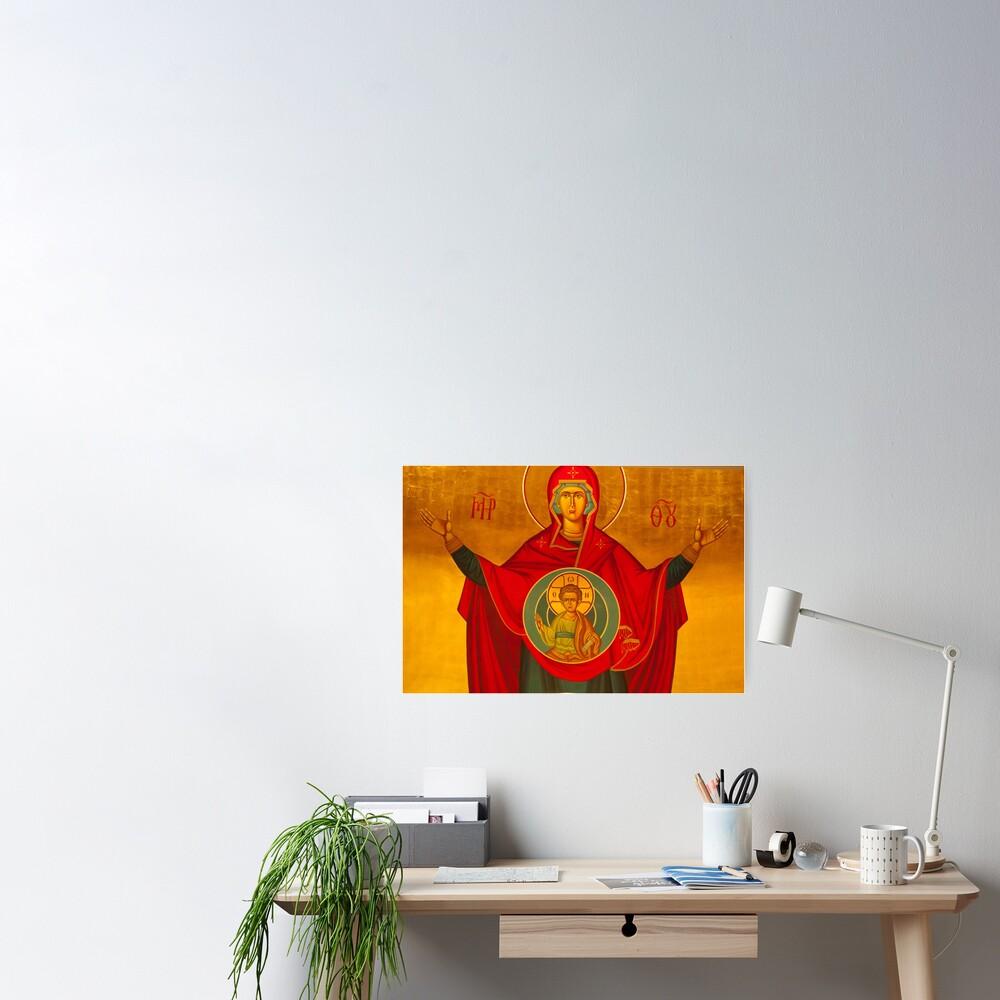 Platytera ('More Spacious than the Heavens') Icon Poster