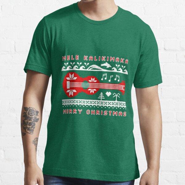 Mele Kalikimaka Red Ugly Christmas Sweater Essential T-Shirt