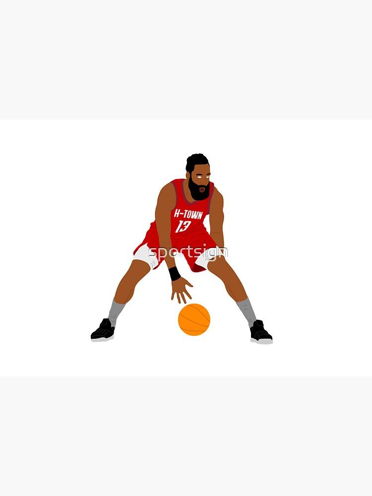James Harden Houston Basketball by sportsign