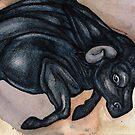 Running Bull by Lynnette Shelley
