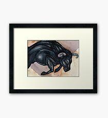 Running Bull Framed Print