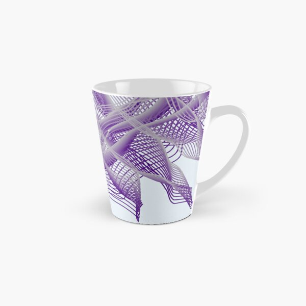 Abstract Violet Spiral Lines Tall Mug