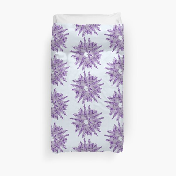 Abstract Violet Spiral Lines Duvet Cover
