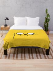 Jake's Face of Adventure Time Throw Blanket