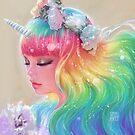 Rainbow Unicorn by Darktownart