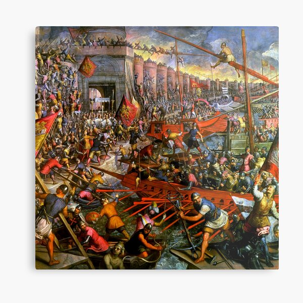 The Capture of Constantinople in 1204 Metal Print