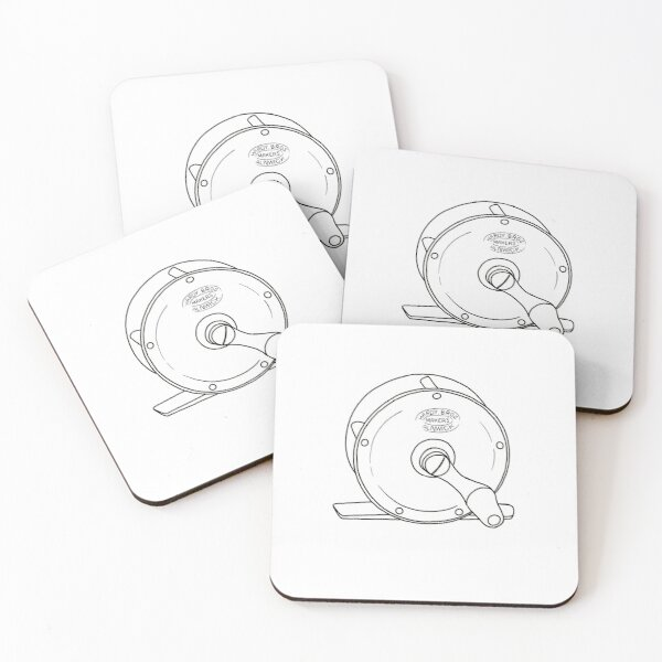 Hardy's fly fishing reel Coasters (Set of 4)