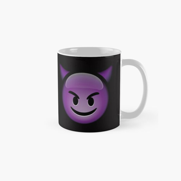 Cute Smiling Purple Devil Emoji Classic Mug
