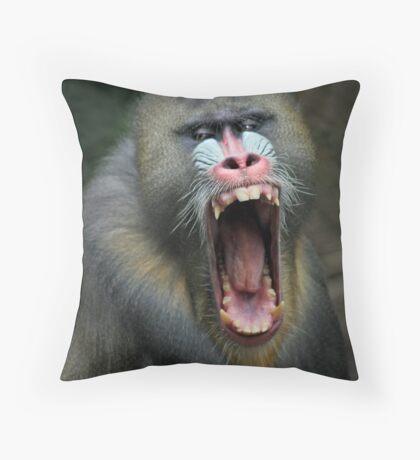 Big Mouth Throw Pillow