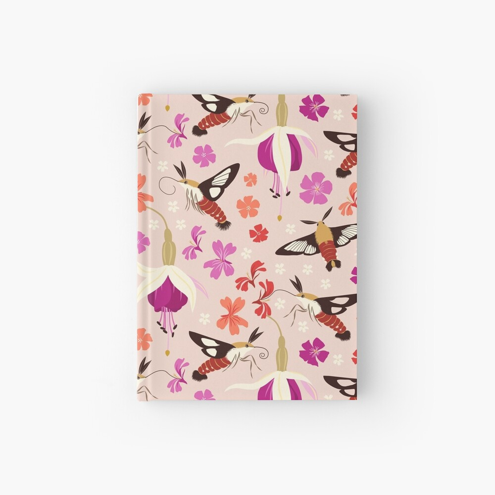 Hummingbird Moths (with stickers) Hardcover Journal