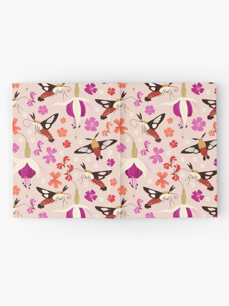 Alternate view of Hummingbird Moths (with stickers) Hardcover Journal