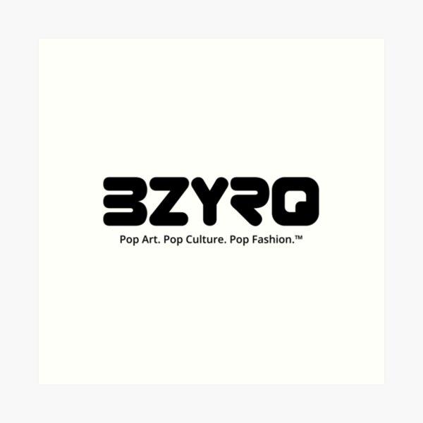 BZYRQ Logo (Black on White) Art Print