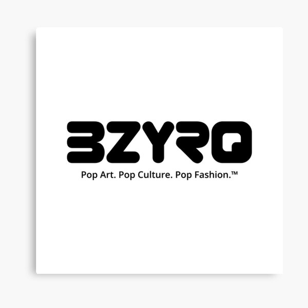 BZYRQ Logo (Black on White) Canvas Print