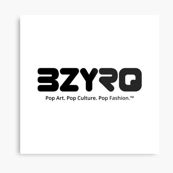 BZYRQ Logo (Black on White) Metal Print