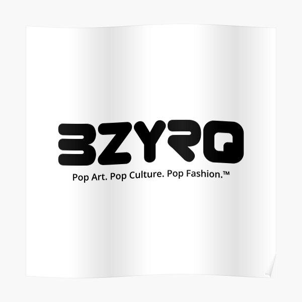 BZYRQ Logo (Black on White) Poster