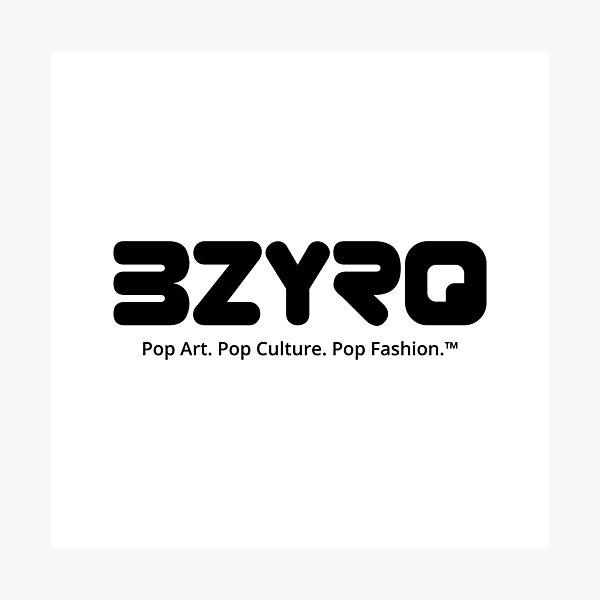 BZYRQ Logo (Black on White) Photographic Print