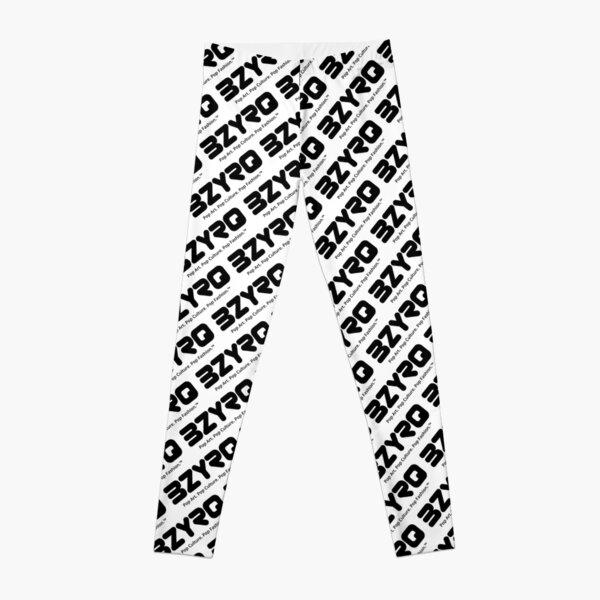 BZYRQ Logo (Black on White) Leggings
