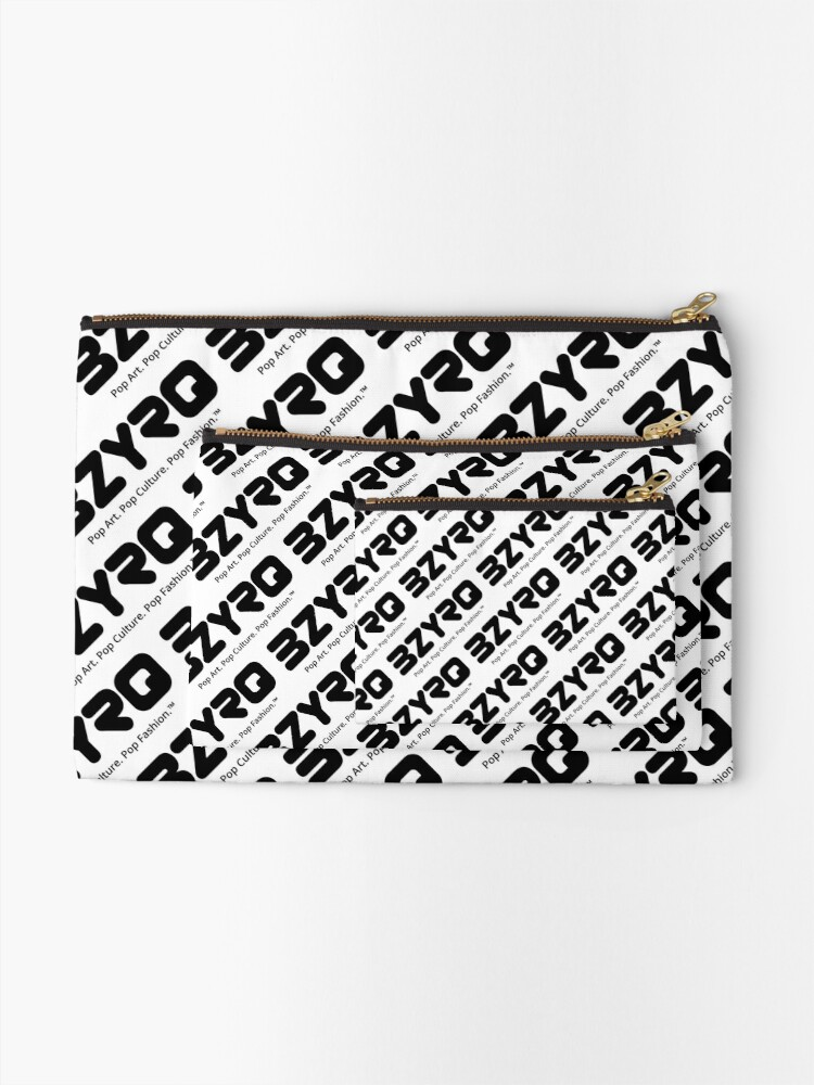Alternate view of BZYRQ Logo (Black on White) Zipper Pouch