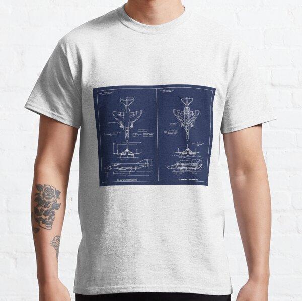 F-4 Phantom II Blueprint Classic T-Shirt