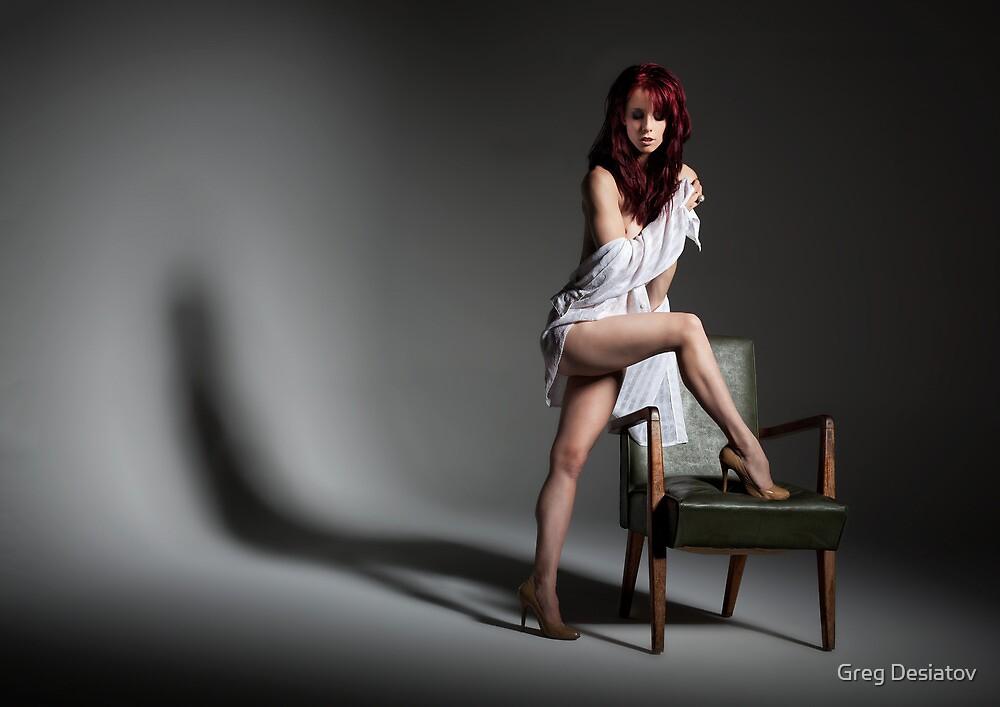 A Girl & An Armchair by Greg Desiatov