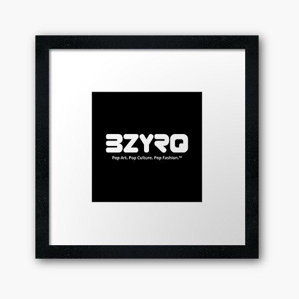 BZYRQ Logo (White on Black) Framed Art Print