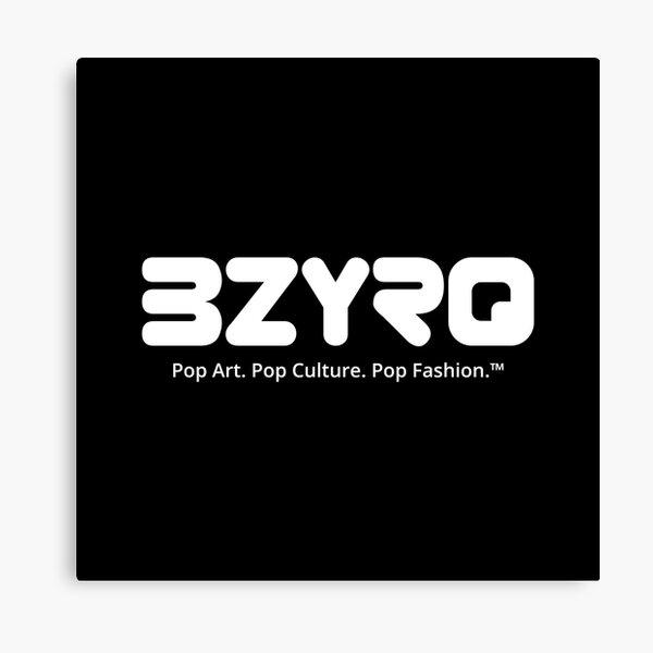 BZYRQ Logo (White on Black) Canvas Print