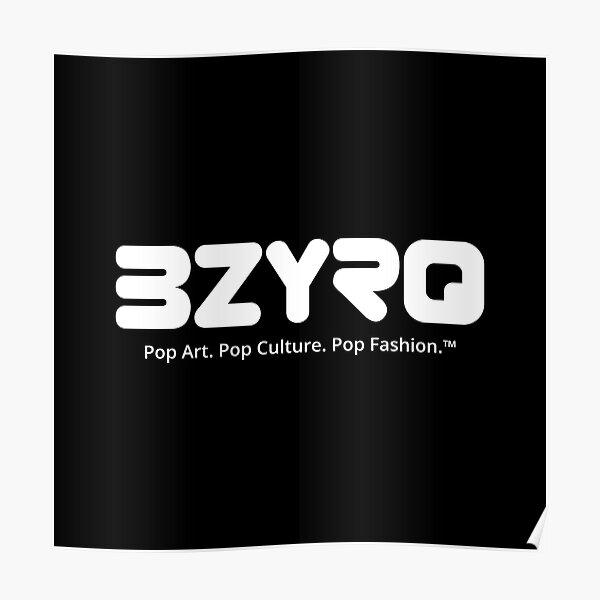 BZYRQ Logo (White on Black) Poster