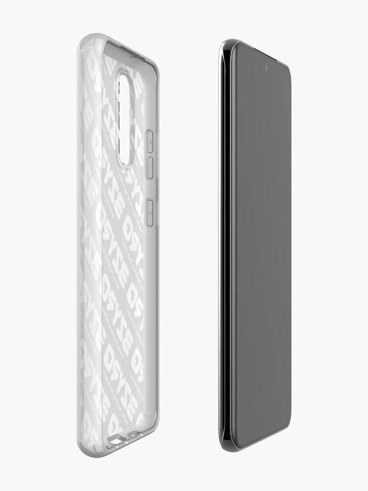 Alternate view of BZYRQ Logo (White on Black) Case & Skin for Samsung Galaxy