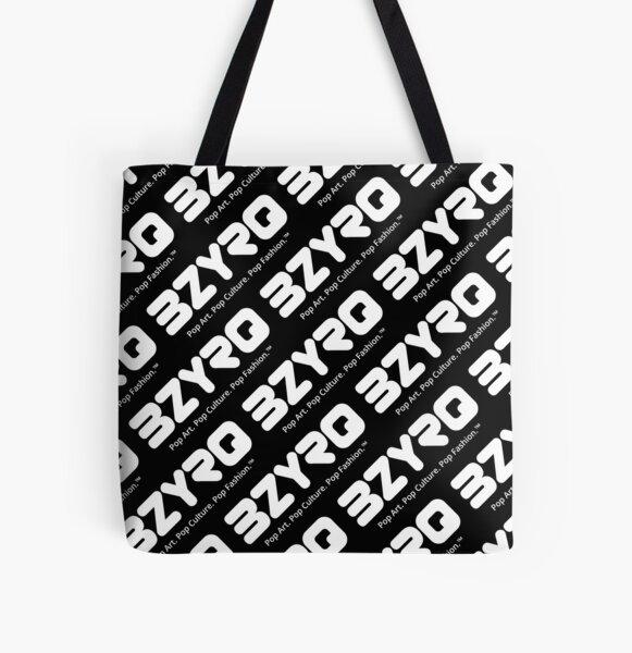 BZYRQ Logo (White on Black) All Over Print Tote Bag