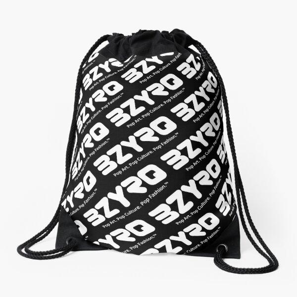 BZYRQ Logo (White on Black) Drawstring Bag