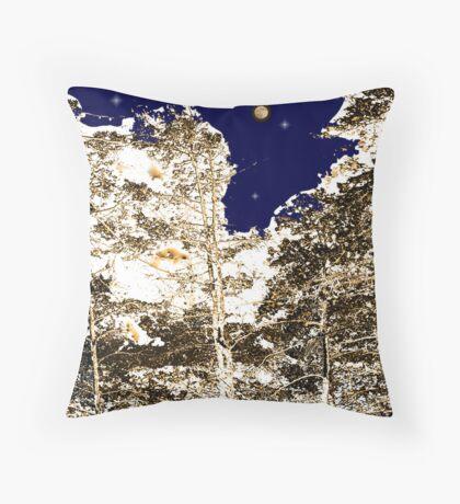 Cedars at Midnight Throw Pillow
