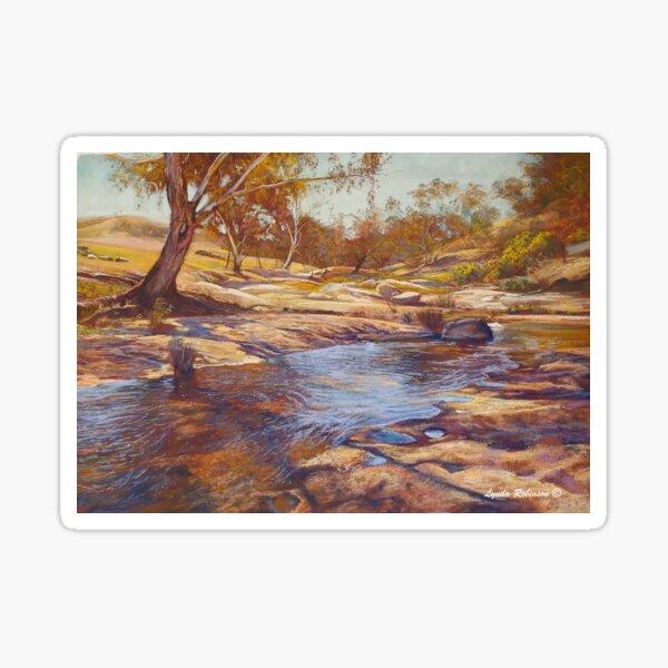 Summer Day - Hughes Creek at Tarcombe Sticker