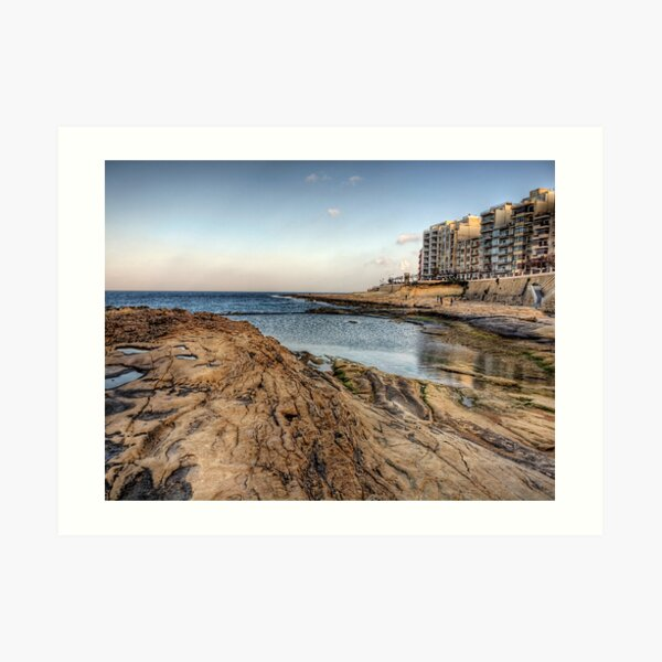 The coast at Sliema - Malta Art Print