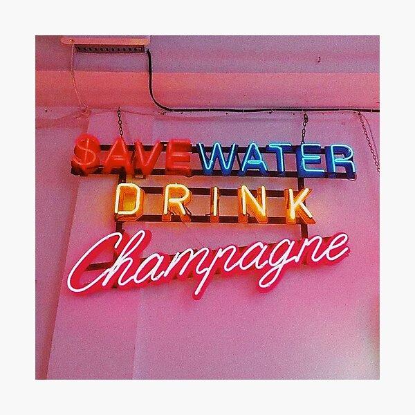 SAVE WATER Photographic Print