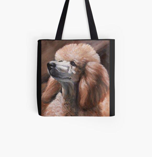 Christina Standard Poodle All Over Print Tote Bag