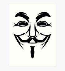 Anonymous Mask Silhouette Art Print