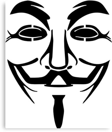 Anonymous Mask Silhouette by Ravanna Lotus