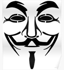 Anonymous Mask Silhouette Poster