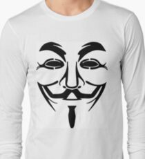 Anonymous Mask Silhouette Long Sleeve T-Shirt