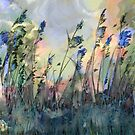 Stormy day - green and blue by Tummy Rubb Studio