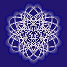Abstract Dark Blue Violet Atomic Swaps by Shapes-Mania